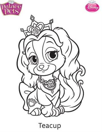 kids n fun 36 coloring pages of princess palace pets