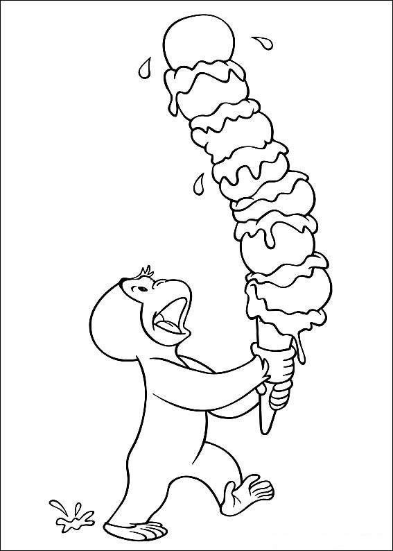 kids n fun coloring page curious george curious george