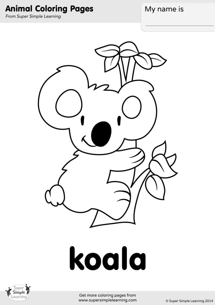 koala coloring page super simple