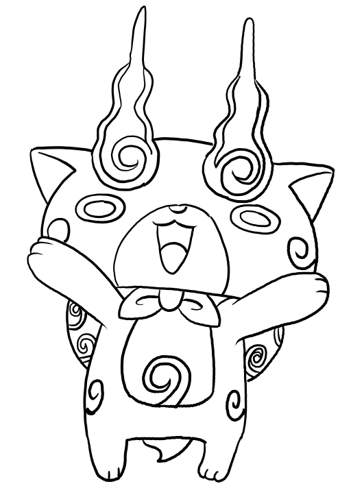 komajiro from yo kai watch coloring pages