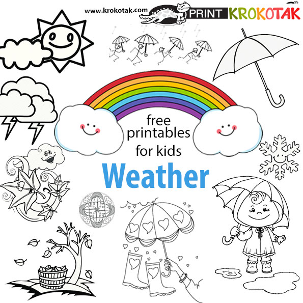 krokotak weather coloring pages