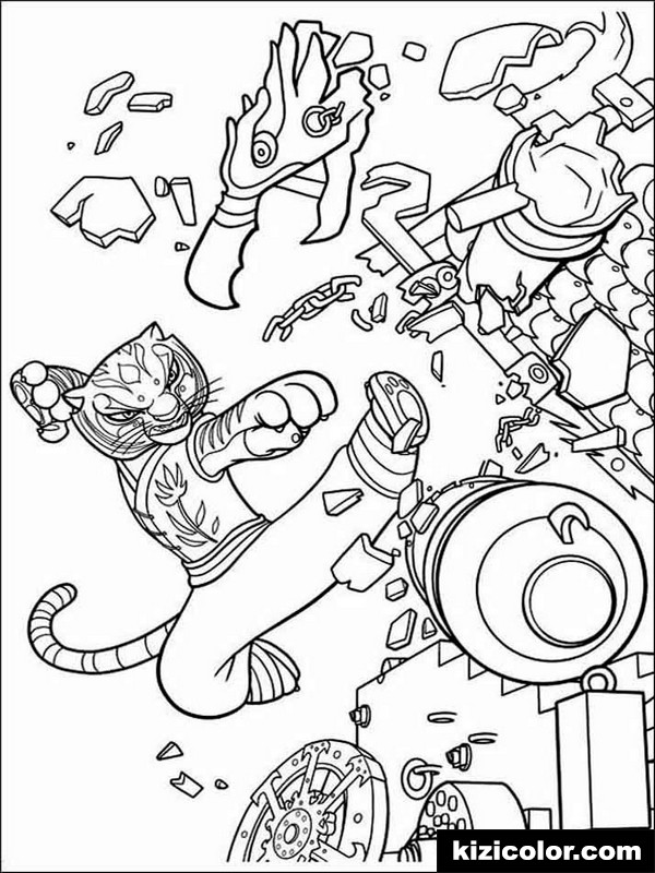 kung fu panda 9 kizi free coloring pages for children