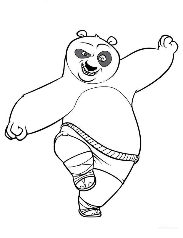 kung fu panda coloring pages clip art library