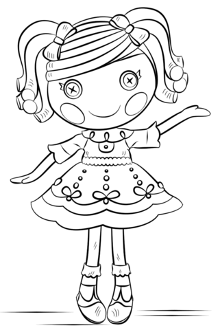lalaloopsy coloring page free printable coloring pages