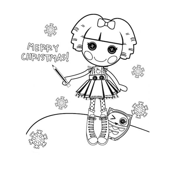 lalaloopsy coloring pages for christmas christmas coloring