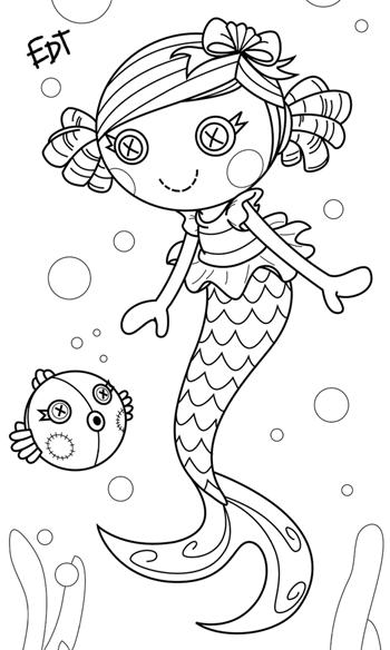 lalaloopsy mermaid coloring pages