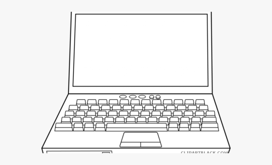 laptop clipart black and white laptop computer coloring