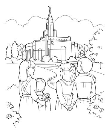 lds coloring pages i love to see the temple as the song