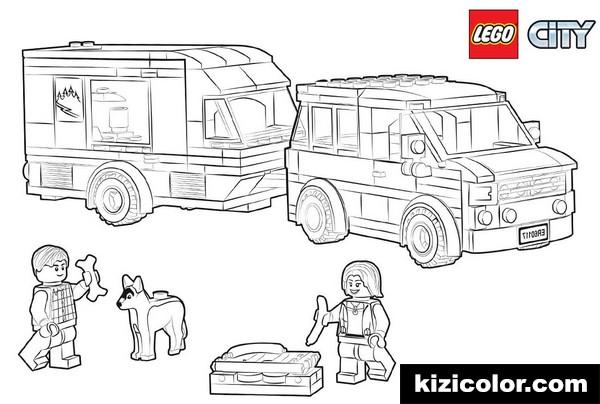 lego city pages van caravan kizi free coloring pages