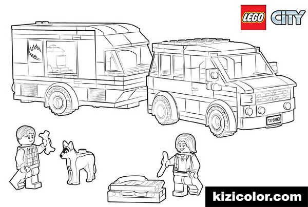lego city pages van caravan kizi free coloring pages