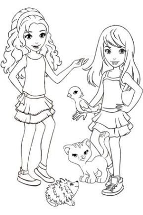 lego friends coloring pages printable free cutare google