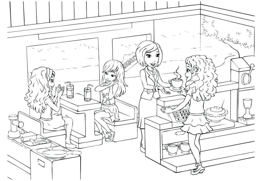 lego friends pictures to print and colour pusat hobi