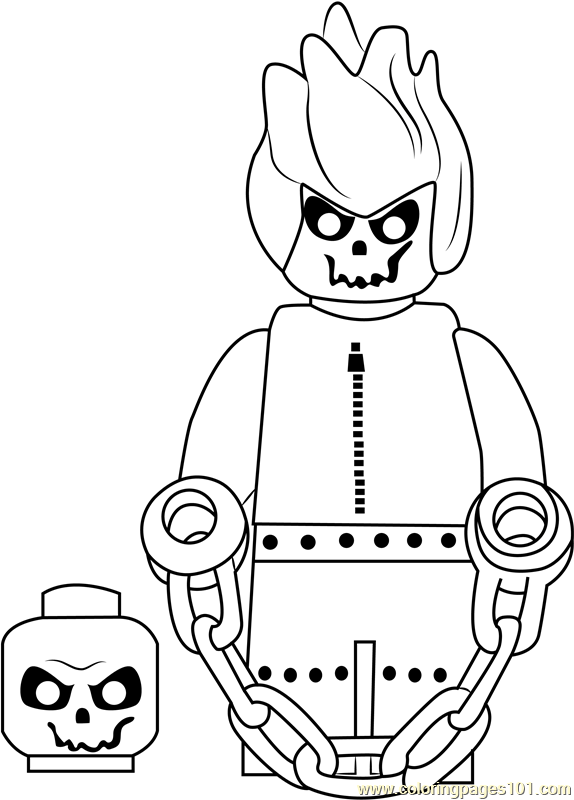 lego ghost rider coloring page free lego coloring pages