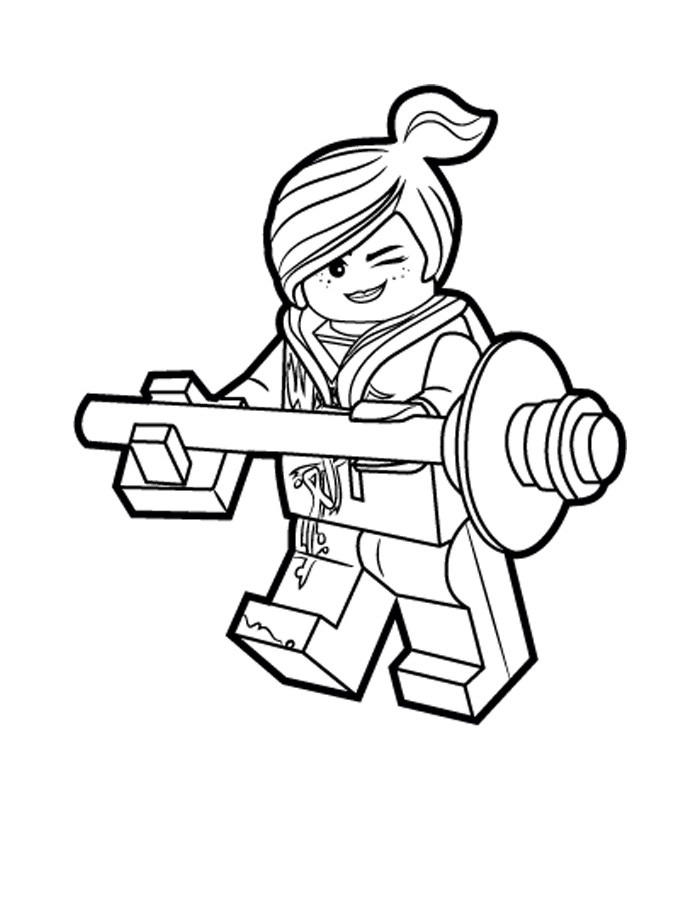 lego movie coloring pages lucy wyldstyle fun for kids
