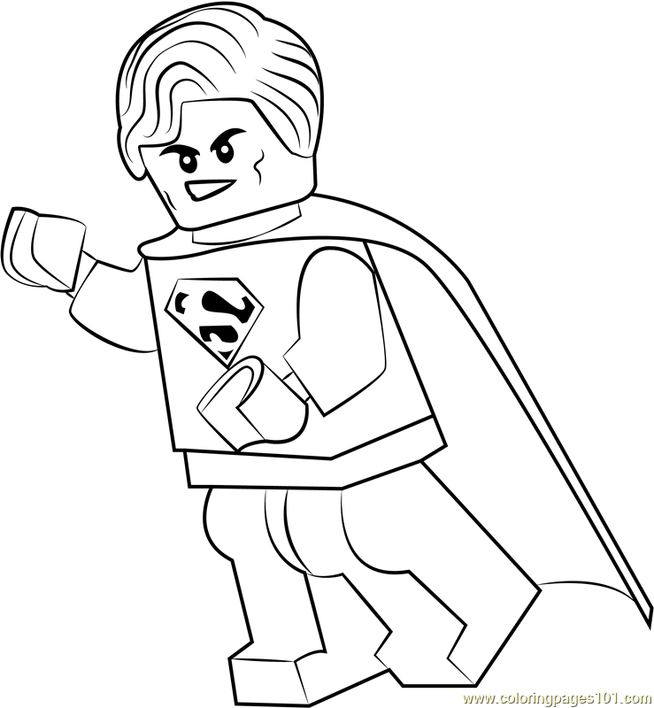lego superman coloring page free lego coloring pages