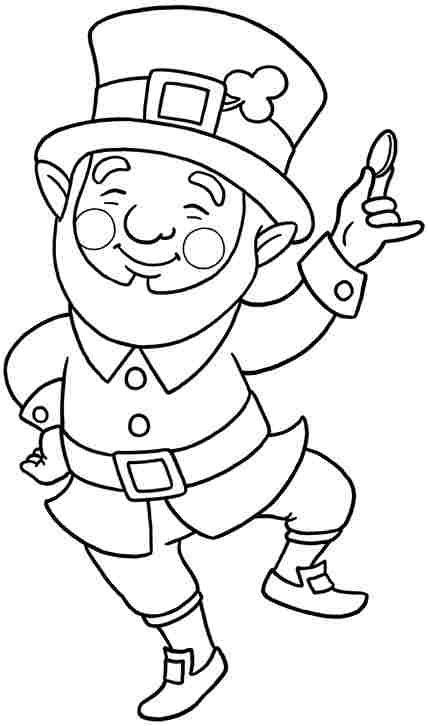 leprechaun coloring page saint patricks day art st