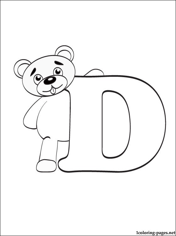 letter d coloring page coloring pages