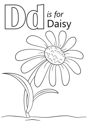 letter d is for daisy fargelegge free printable coloring pages