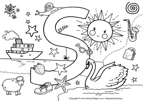 letter s coloring pages at getdrawings free for
