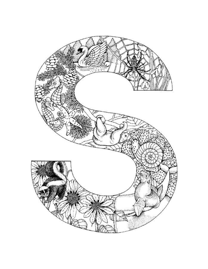 letter s coloring pages for adults alphabet coloring pages