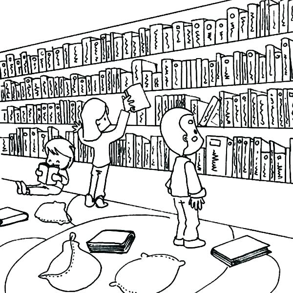 library coloring page ogadsclub