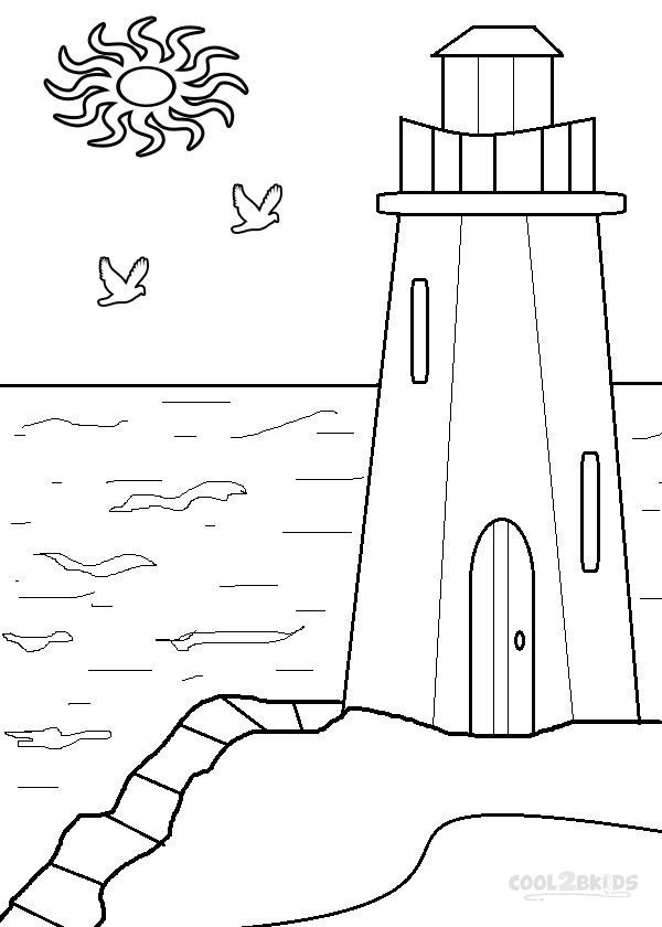 lighthouse coloring pages to print picture schattenbilder