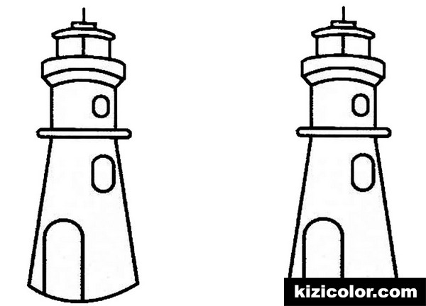 lighthouse two lighthouses kizi free coloring pages for