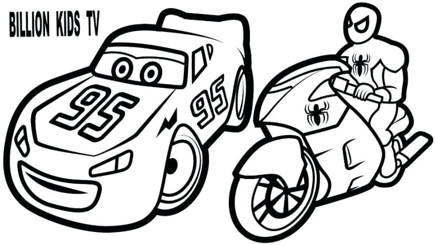 lightning mcqueen coloring page free at getdrawings