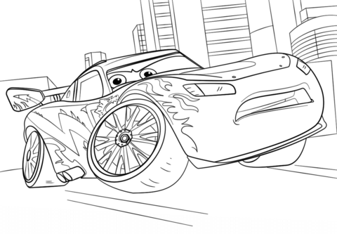 lightning mcqueen from cars 3 coloring page free printable