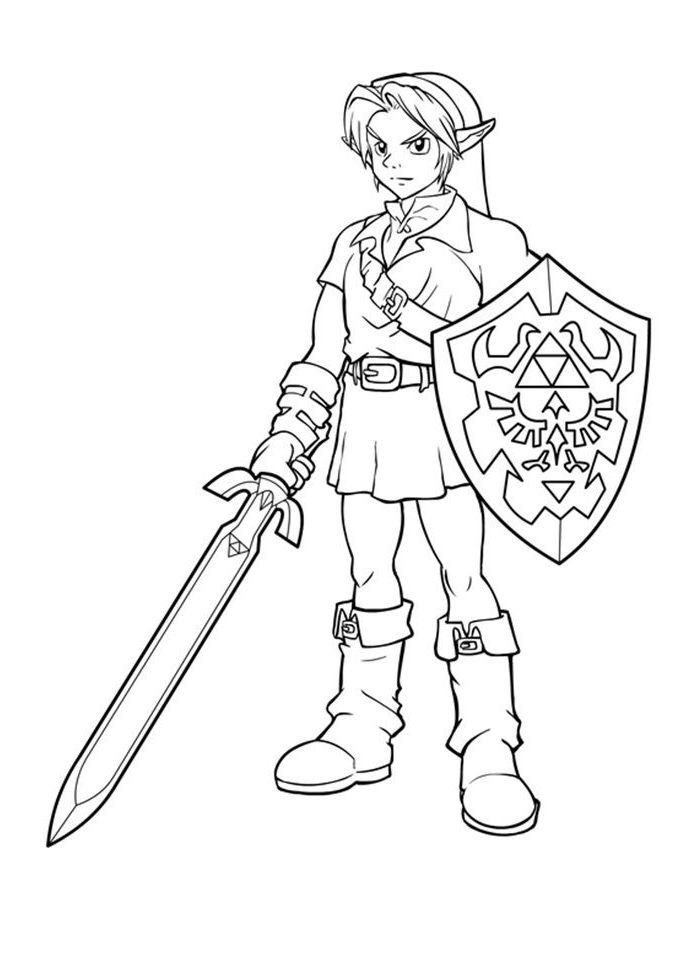 link coloring pages coloring pages disney coloring pages