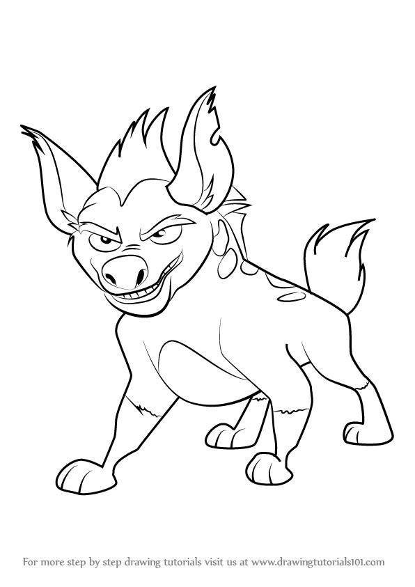 lion guard janja coloring pages