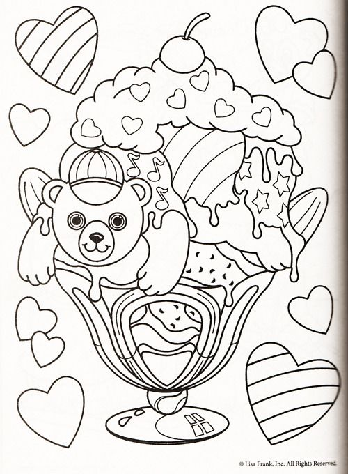 lisa frank coloring page lisa frank coloring books