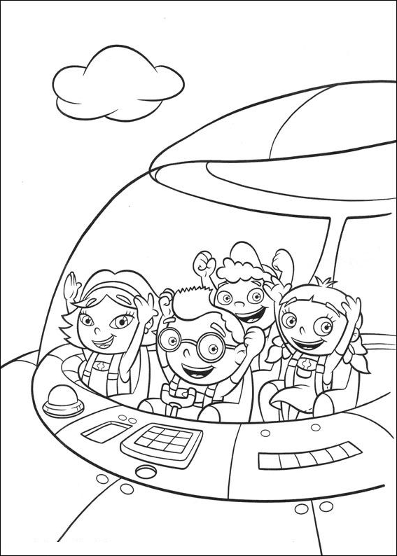 little einsteins coloring page drawing 1