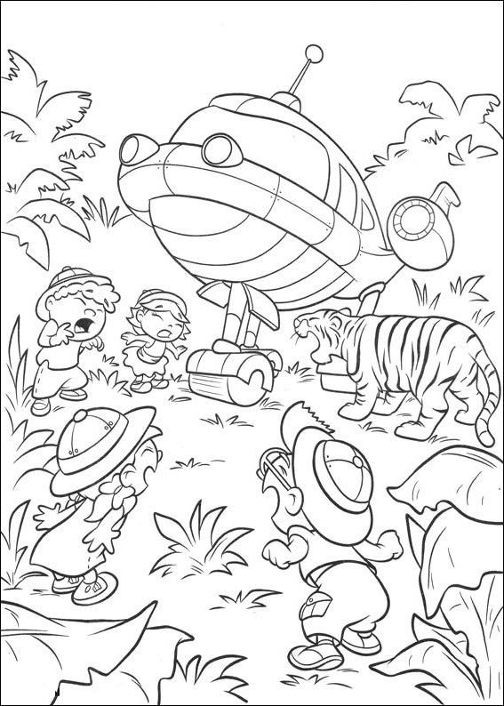 little einsteins coloring page drawing 2