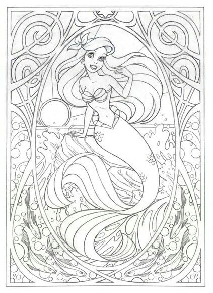 little mermaid coloring page disney coloring pages