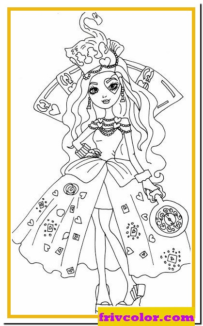 lizzie hearts way too wonderland ever after high friv free