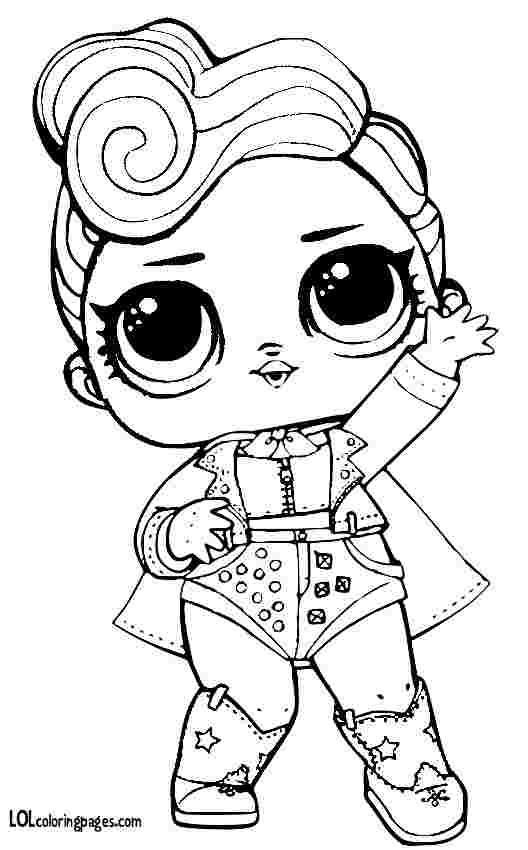 lol coloring pages bling queen lol surprise dolls coloring
