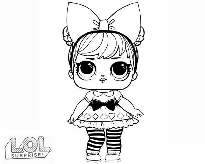 lol doll coloring sheets to print pusat hobi