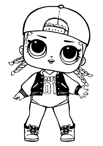 lol doll mc swag coloring page free printable coloring pages