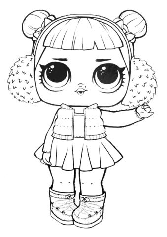 lol surprise doll snow angel coloring page free printable