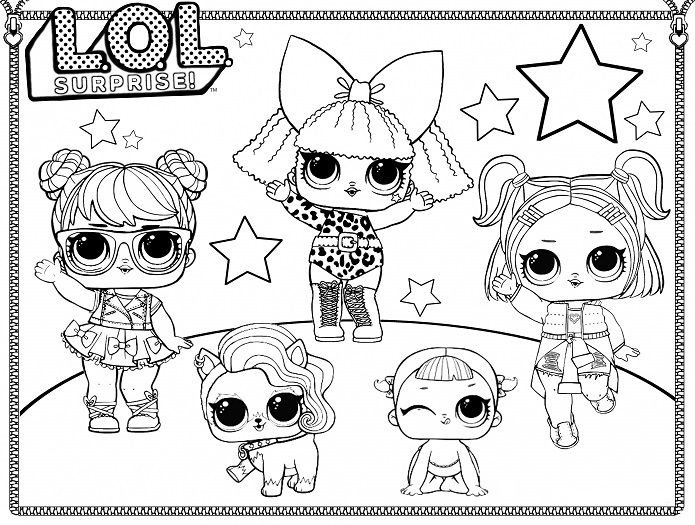 lol surprise dolls coloring pages free printable coloring page