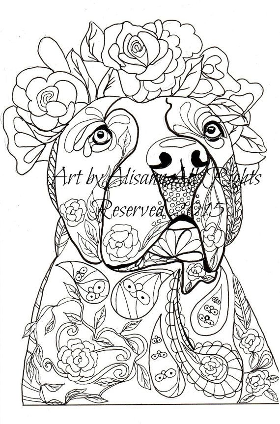 love dogs coloring book for adults vol 1 abeesartstudio