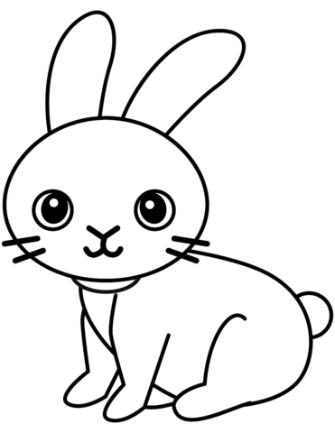 lovely rabbit coloring page free printable coloring pages
