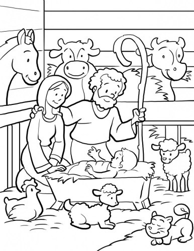 manger scene coloring page at getdrawings free for