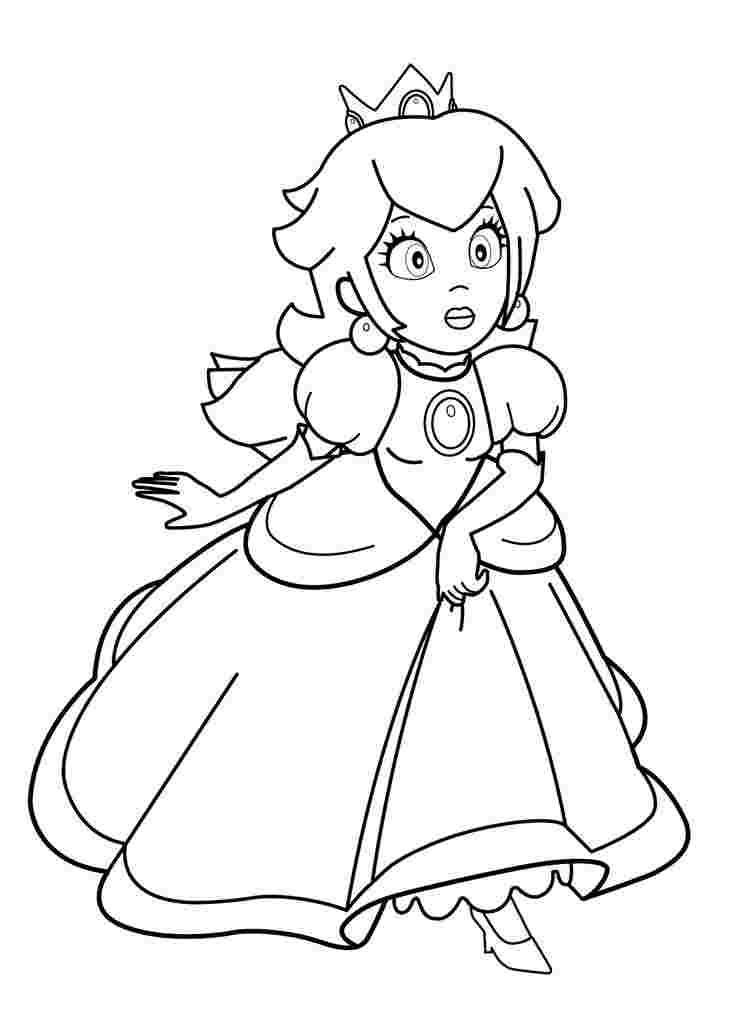 mario princess coloring pages mario bros princess peach