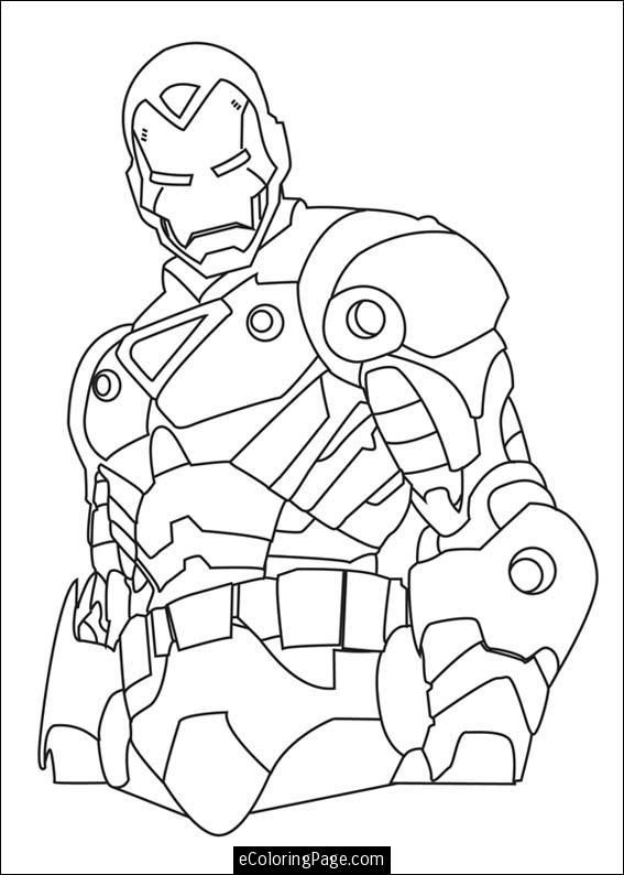 marvel superhero ironman coloring page superhelden