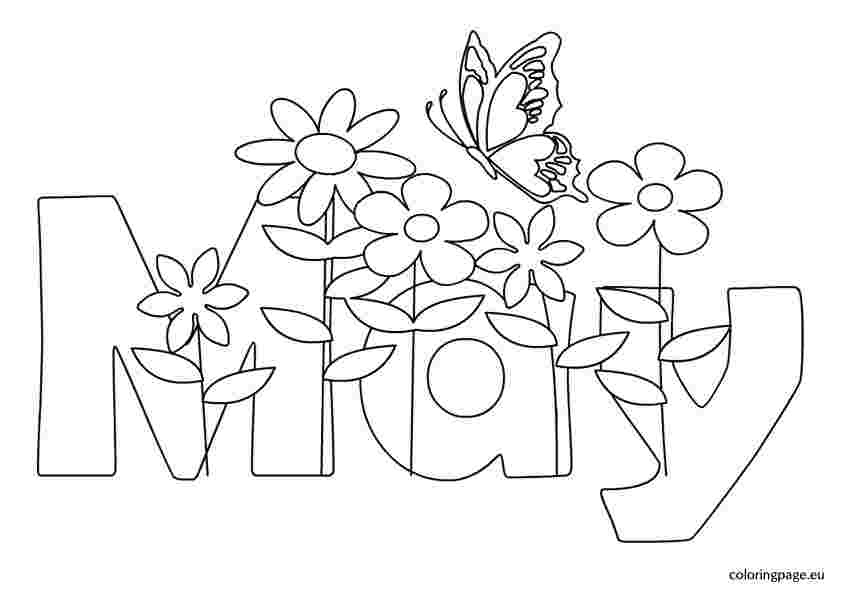 may coloring pages for kindergarten april showers bring may