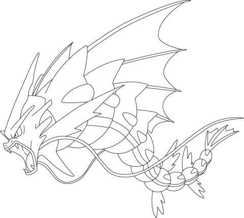 mega gyarados pokemon kifest free printable coloring pages