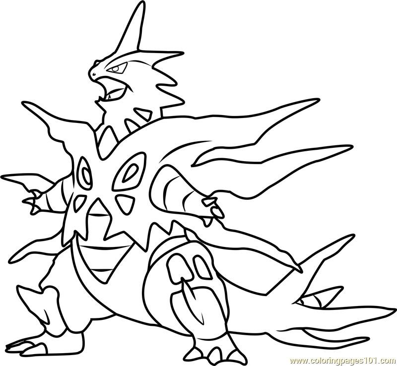 mega tyranitar pokemon coloring page free pokmon best