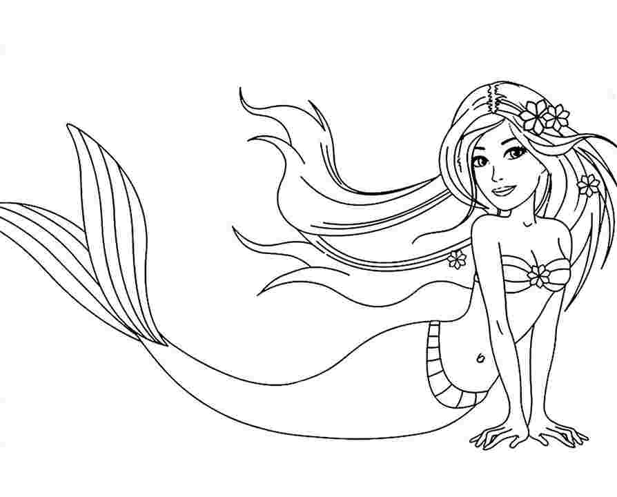 Coloring Pages Mermaids Idea - Whitesbelfast